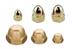 brass dome nuts acron nuts